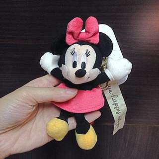 東京迪士尼 米妮吊飾 鑰匙圈 Mini
