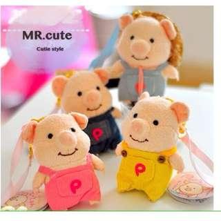 原單 日本超紅 pig 童話故事系列小豬 吊飾 掛飾 生日禮物 交換禮物 娃娃
