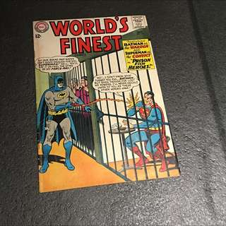 Silver Age Vintage Comic Worlds Finest #145