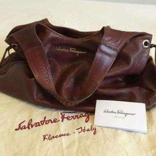 Selvatore Feraggamo Hobo Full Leather Bag