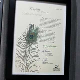 "Swarovski ""The Peacock"" Limited Edition"