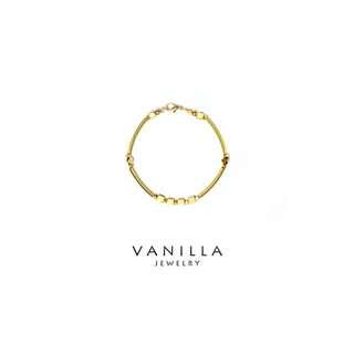 [網路價] Vanilla Jewelry獨家設計款-「我兒佳比」純手工全黃銅手鍊-可客製*限時優惠中