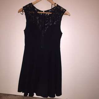 Black Half Lace Party Dress