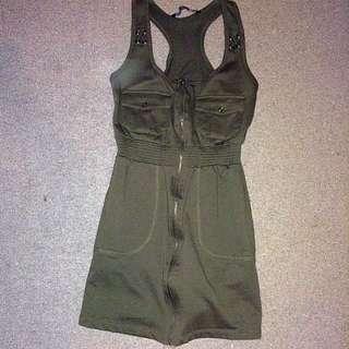 Green-Grey Dress