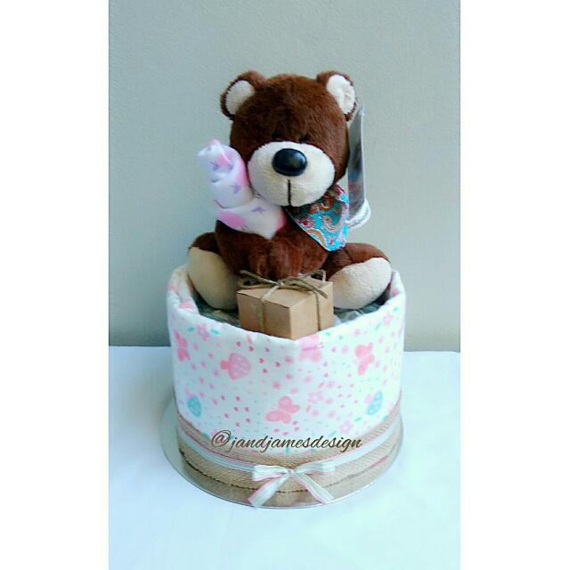 1-Tier Nappy Cake Design