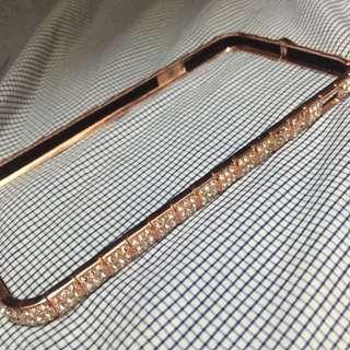 ip6/Ip6s 玫瑰金鑽石邊框