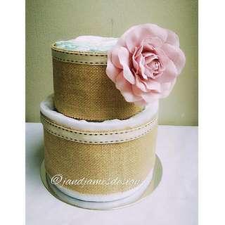 Classic Vintage 2-Tier Nappy Cake Design