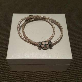 Pandora Pink Double Leather In Pink