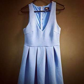 pastel blue dotti dress - size S