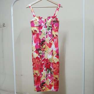 Flower Bodycon Dress