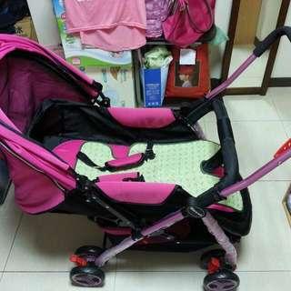 嬰兒推車 (桃紅色)