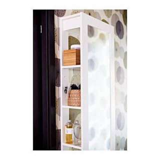 IKEA BRIMNES Mirror with storage shelves white (no longer in store)