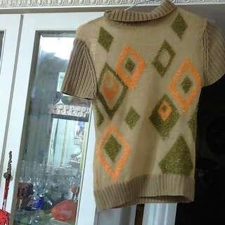方塊圖案金蔥毛衣