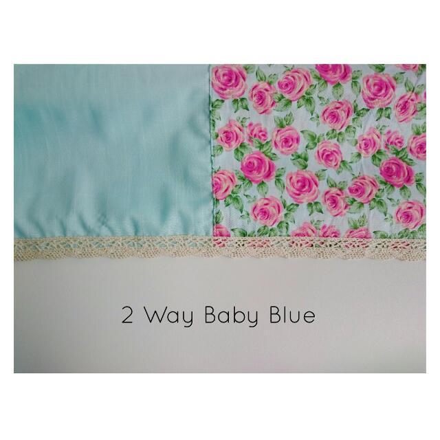 2 Way Baby Blue Pashmina