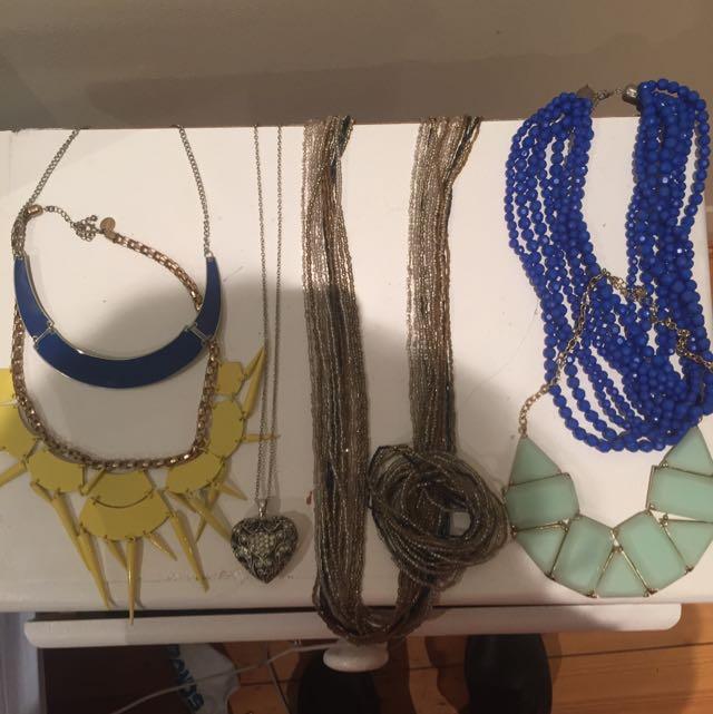 6 Necklaces + Bracelet Set