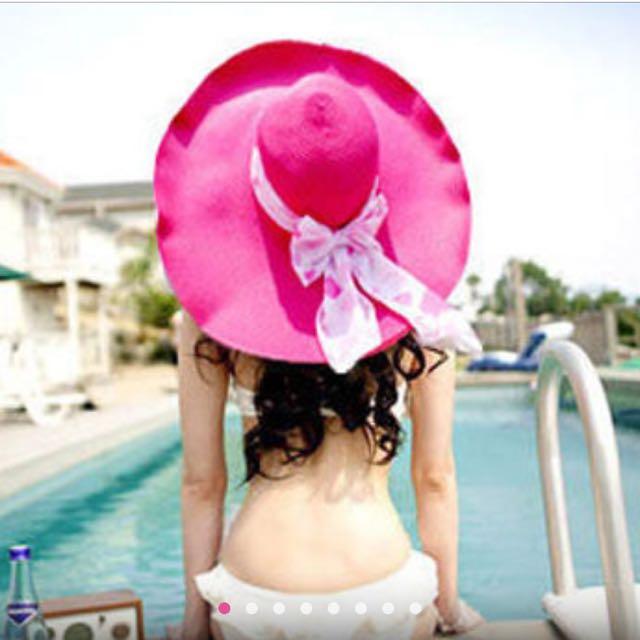 桃紅 草帽。150含郵