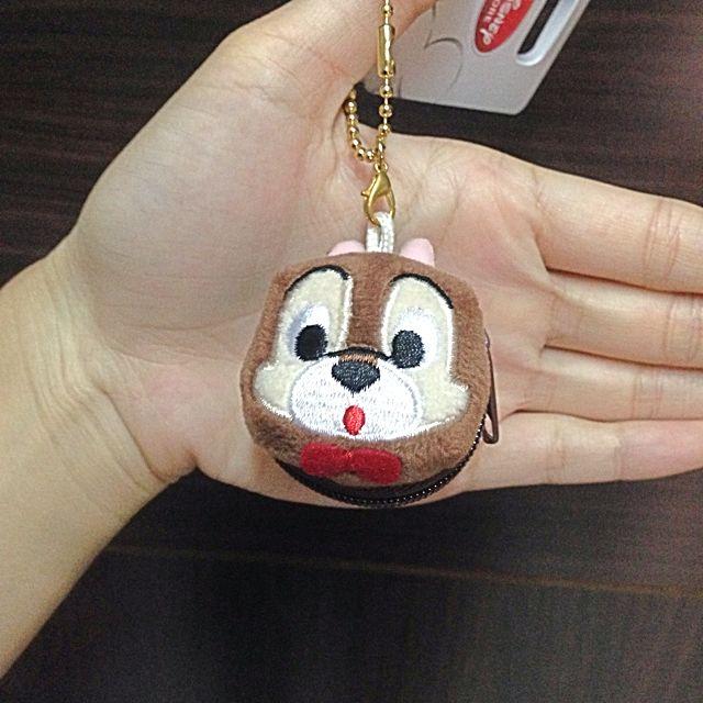 東京迪士尼 奇奇蒂蒂 小零錢包 吊飾 鑰匙圈