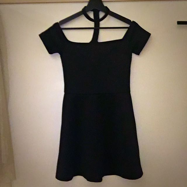 👑 Babydoll Black Choker Dress 👑