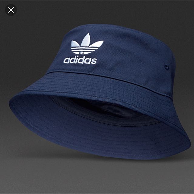 new list best service online here ADIDAS BUCKET HAT IN NAVY BLUE, Women's Fashion on Carousell