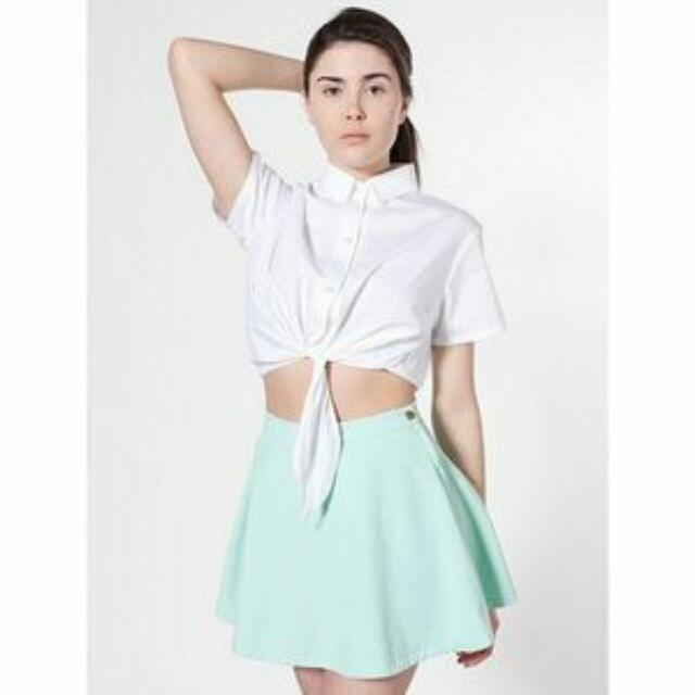 American Apparel Mint Denim Circle Skirt