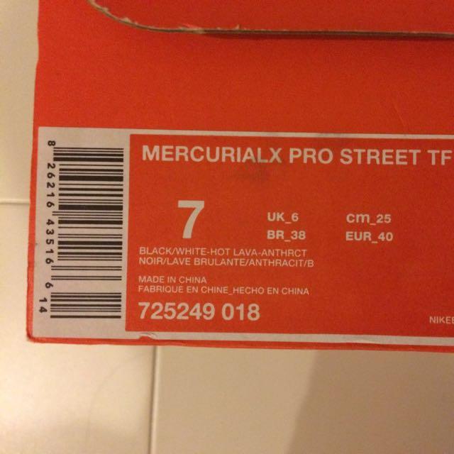 best service 8f167 5dd8d AUTHENTIC NIKE MERCURIALX PRO STREET TF, Sports on Carousell
