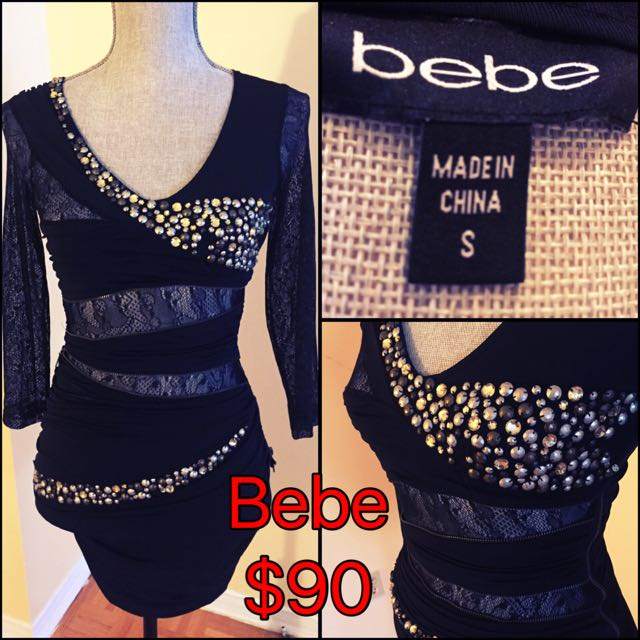 Bebe Cocktail Dress With Beading