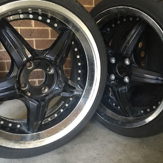 Black 4 Stud Rims