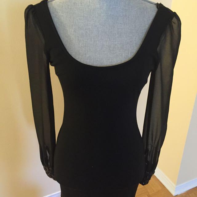 Black Dress With Crystal Details
