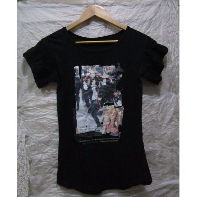 Black T-Shirt Ladies - Medium -used from Hong Kong