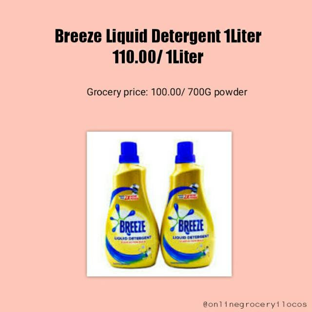Breeze Liquid Detergent 1 Liter