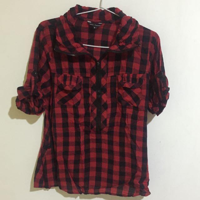Checkered Zipper Shirt