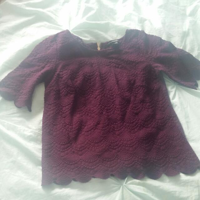 Club Monaco Lace Shirt Never Worn Brand New