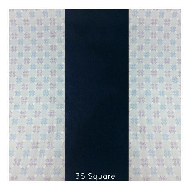 Combination Navy Square Hijab (segi 4)