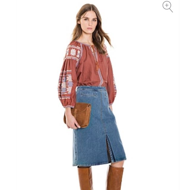 COUNTRY ROAD PLEAT FRONT A LINE SKIRT