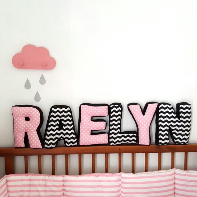 Customize Alphabet Name Pillow