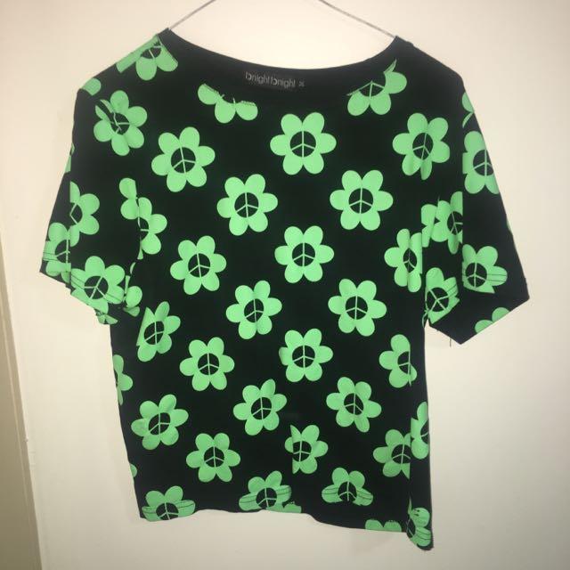 Flower crop shirt