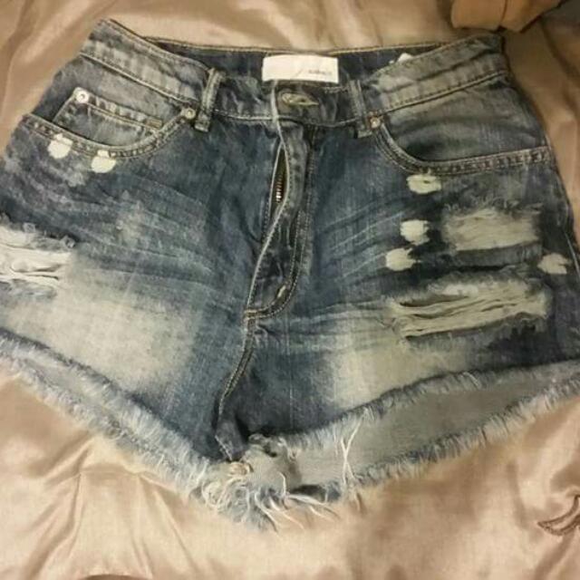 Garage High Waisted Shorts