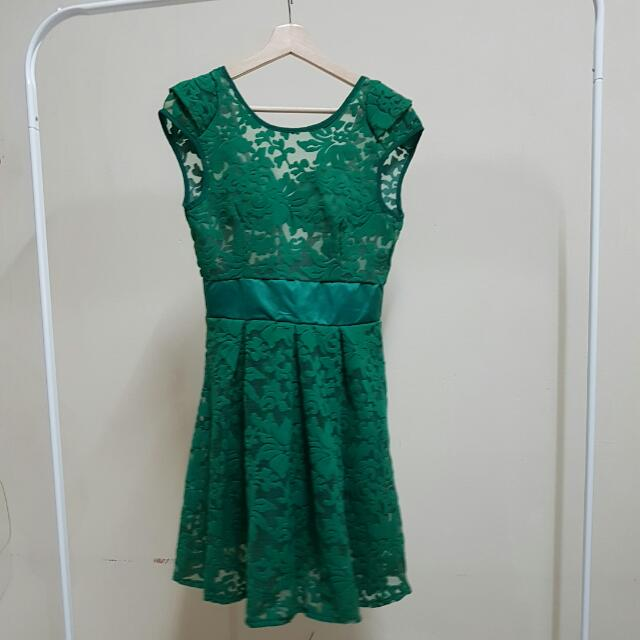 [NEW] Green Lace Dress