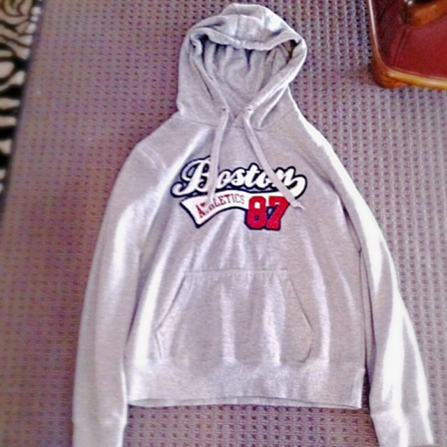 Grey 'Boston Athletic '87' Hoodie - Girls Xpress - Size 14