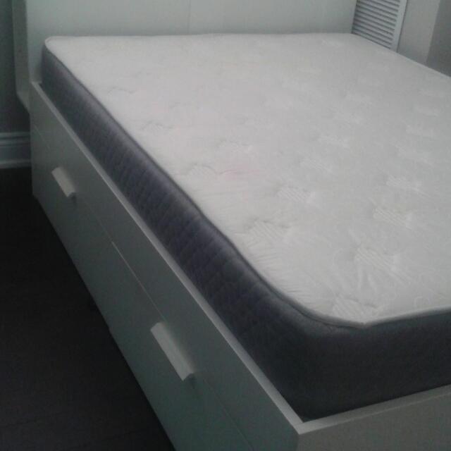Headboard, Mattress, Bed Frame