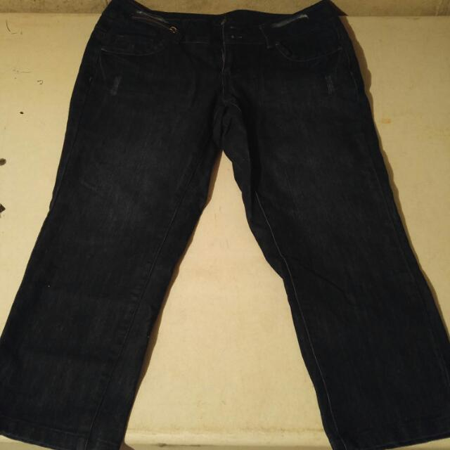 Jean Capri Pants, Slight Flare Cut (sz 11)