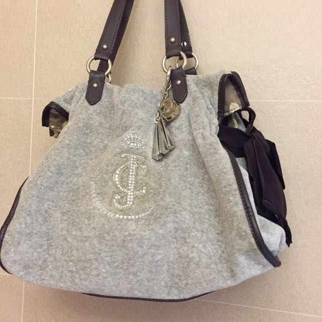 Juicy Couture 絨布肩背手提包