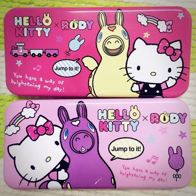 Kitty&Rody聯名款鐵式鉛筆盒