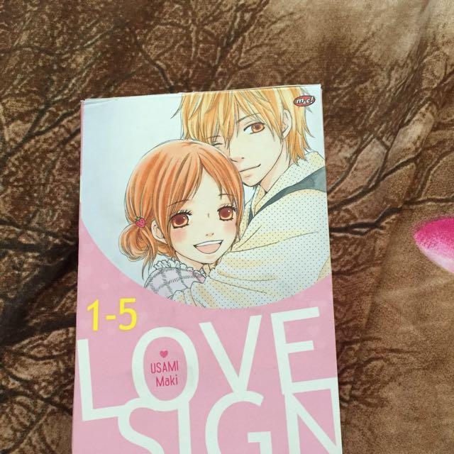 Komik Love Sign