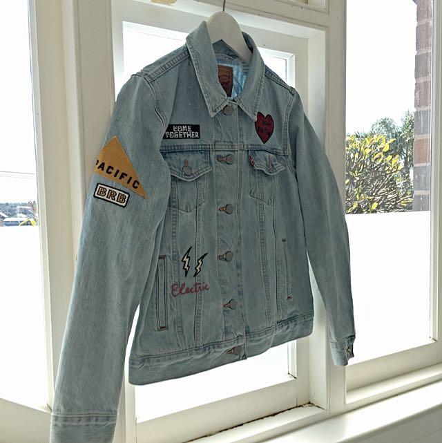 Levi Strauss Denim Jacket With Patchwork