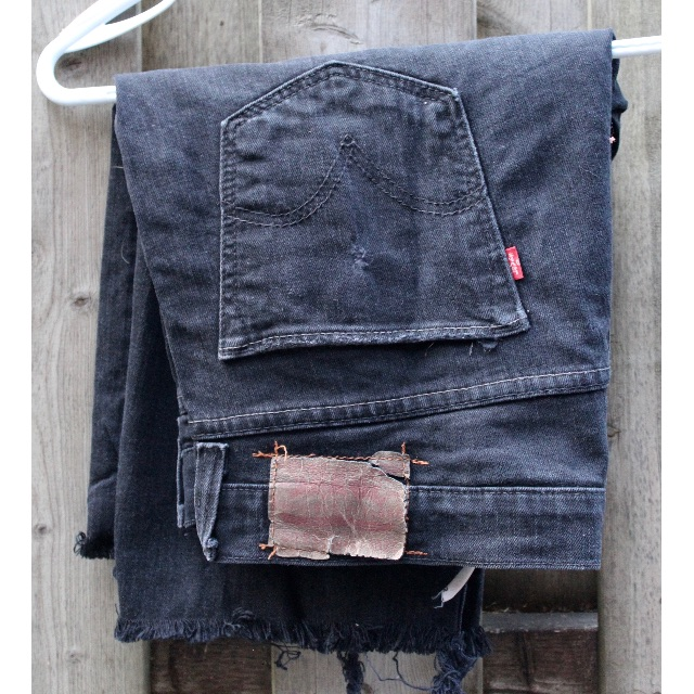 Levis Black Jean Shorts