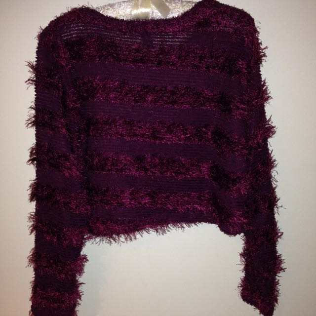 Maroon Cropped Jumper