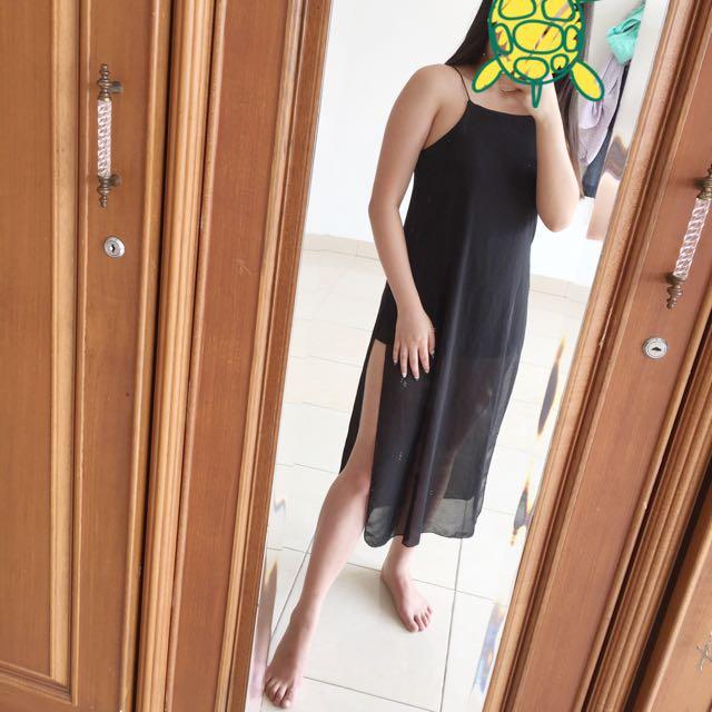 New Long Dress (black)