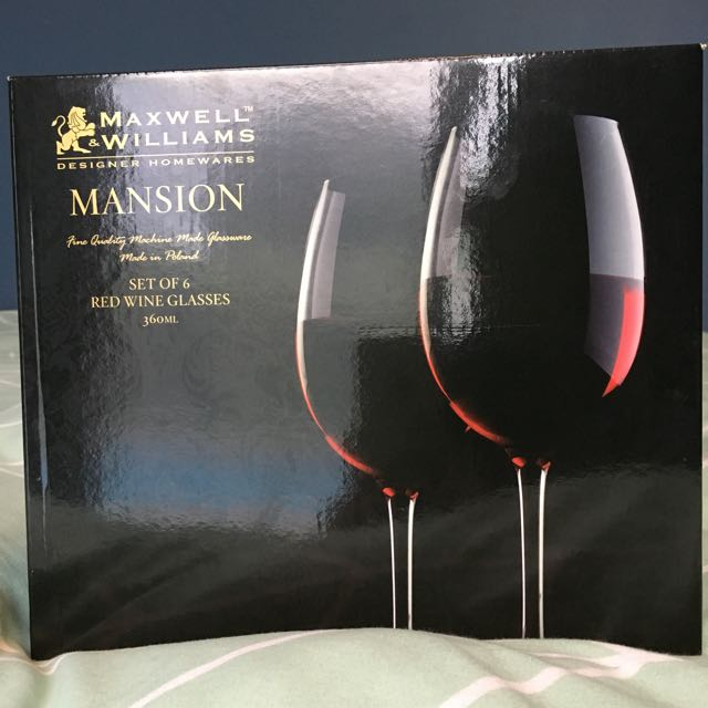 New Maxwell & Williams Red Wine Glass Set