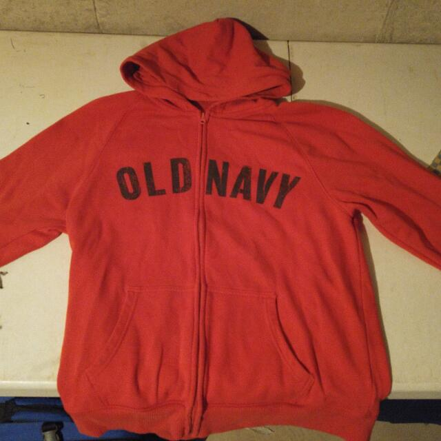 Old Navy Orange Zip-up Hoodie Sweater (sz XL)